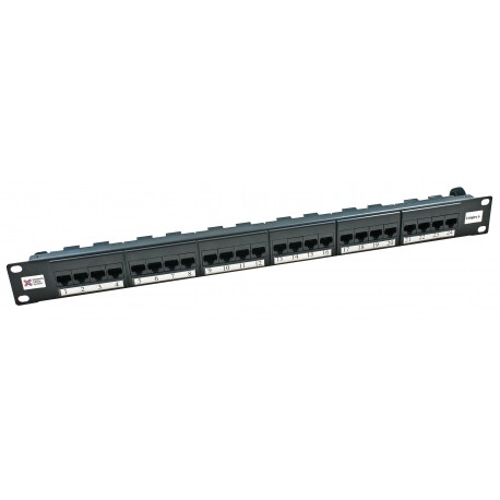 Cntx Cat5e Patch Panel UTP 24 Way Blk
