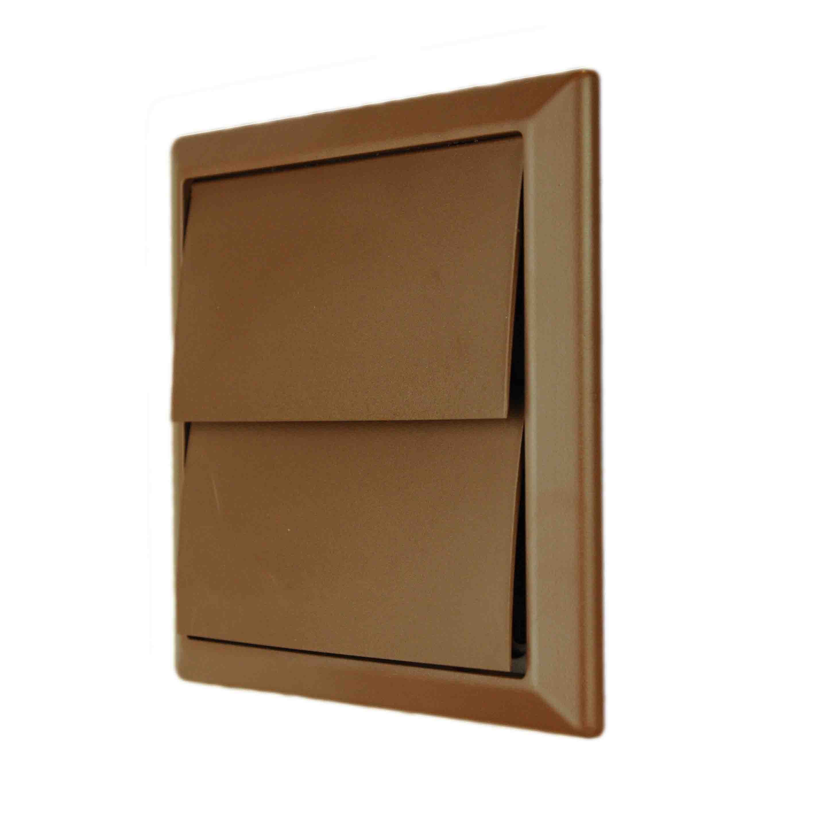 NVA 4900B 100mm Brown Gravity Wall Outlet
