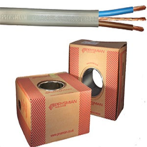 PVC Twin   Earth 2.5mm (Boxed) (Per 100mtr)