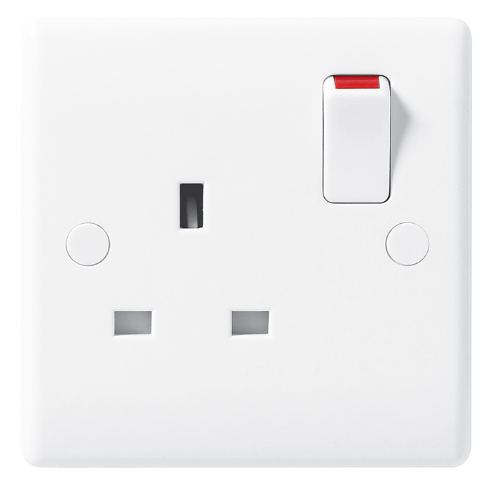 BG 821 Socket Outlet SP Switched 13A