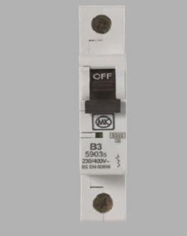 MK 8706S MCB SP Type C 6A 6kA