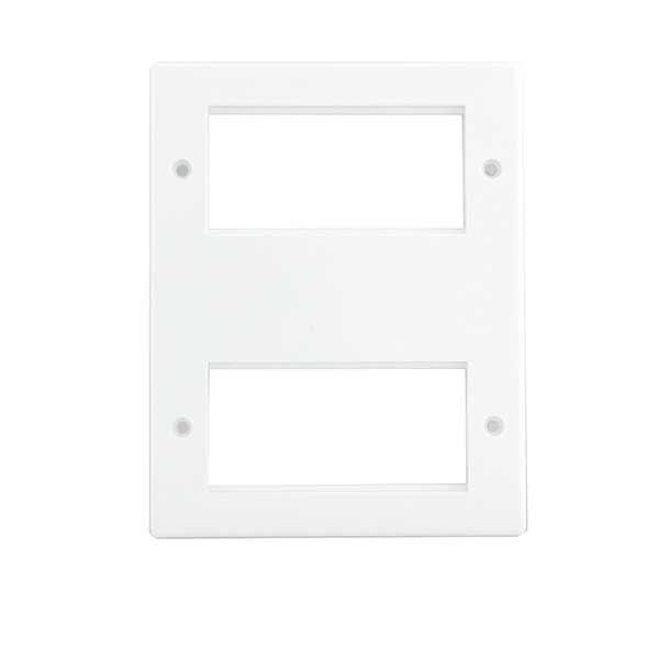 BG 8EM8 Frontplate 2x Quad Module White