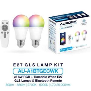 Aurora AU-A1BTGECWK GLS Kit E27 8W