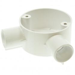 U/Volt CB20AWH Angle Box 20mm White