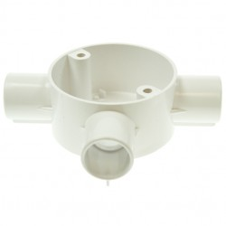 U/Volt CB25/3WH Tee Circ Box 25mm White