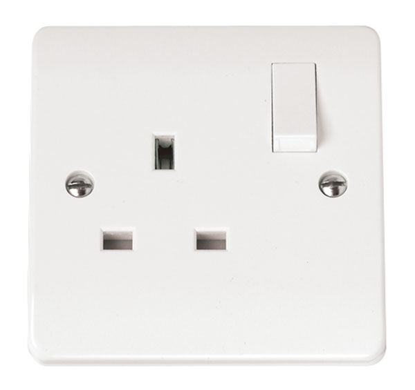 Click CMA035 Socket 1G Switched 13A Whi