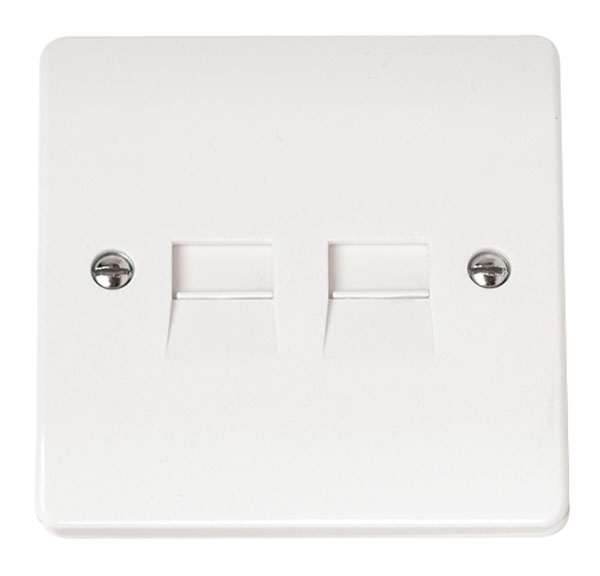 Click CMA127 Socket Tel Second Twin Whi