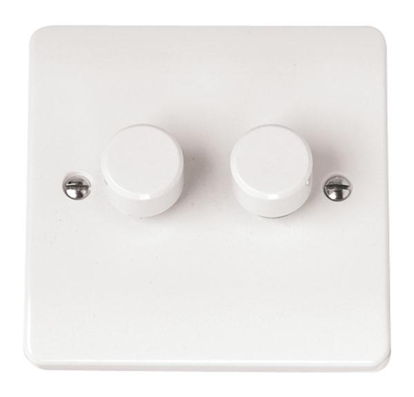 Click CMA146 Dimmer Switch 2x250Va Whi