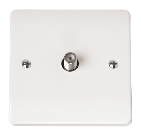 Click CMA156 Socket Sat Isolated Whi