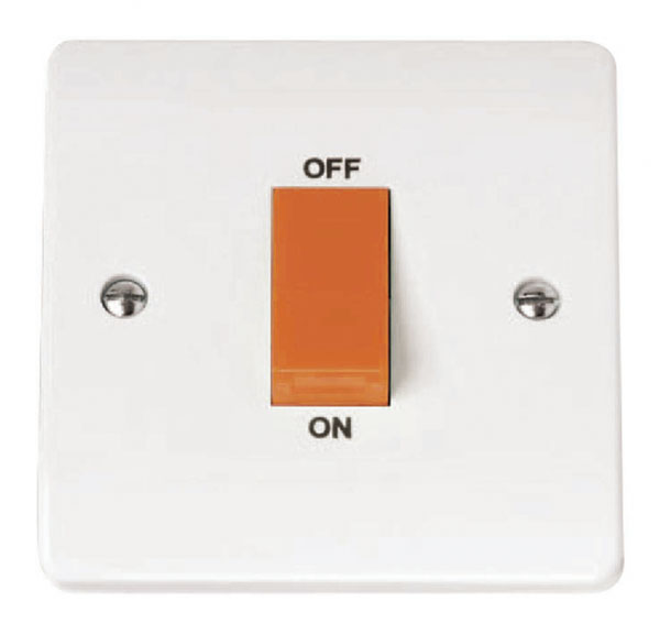 Click CMA200 Cooker Switch 1G 45A Whi