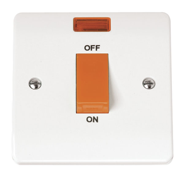 Click CMA201 Cooker Switch 1G Neon 45A