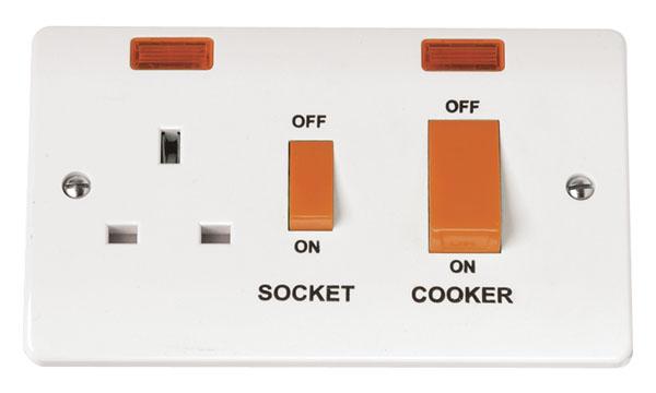 Click CMA205 CCU 13A Socket+Neon45A Whi