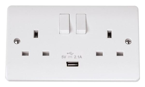 Click CMA770 Socket 2G Swd   USB 13A Whi