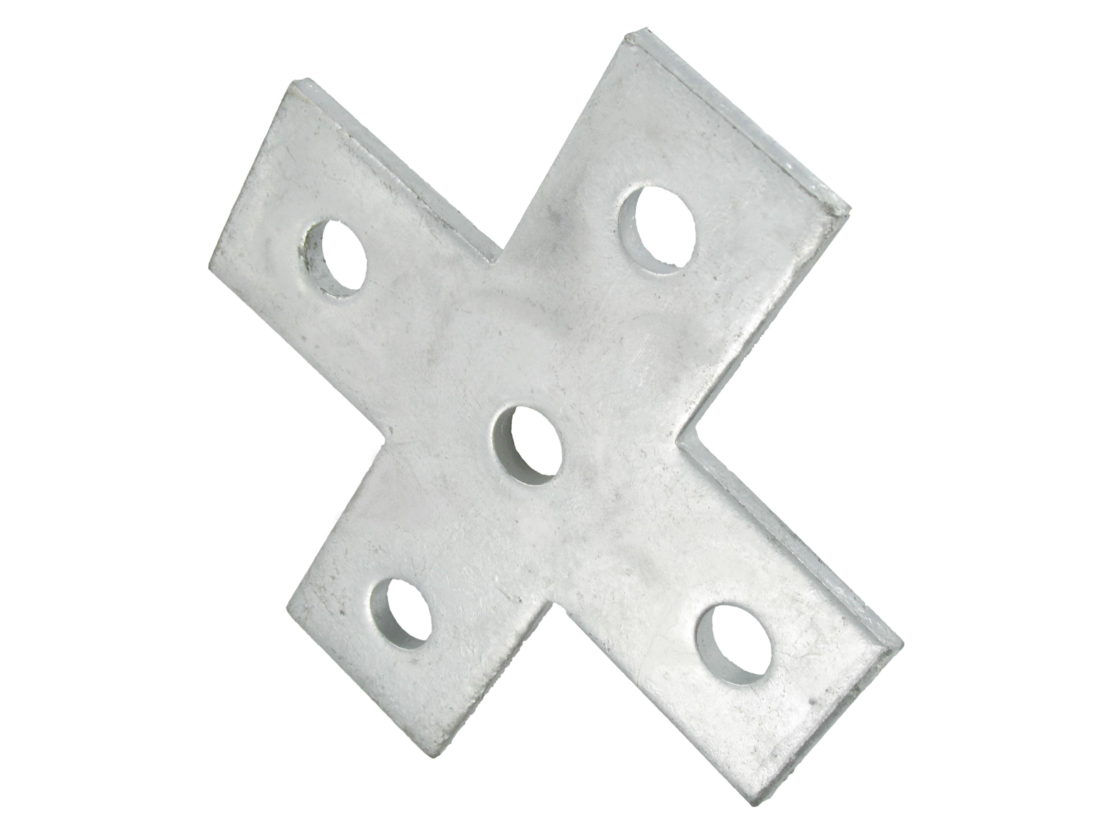 Deligo D603B Flat Cross Plate Galvanised