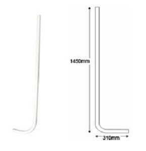 Hockey Stick (Surface Use) White