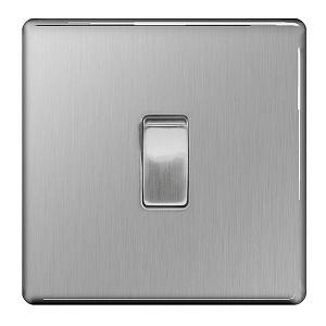 BG FBS12 Plate Switch 1 Gang 2 Way 10A