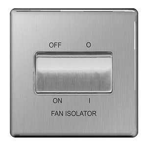 BG FBS15 Plate Switch Fan Isolator 10A