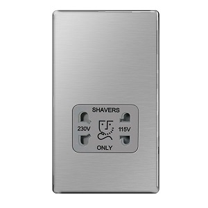 BG FBS20G Shaver Socket 115/230V