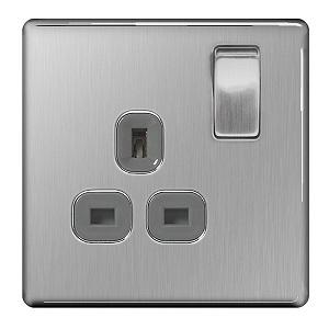 BG FBS21G Switched Socket 1Gang DP 13A