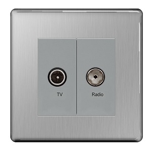 BG FBS66 Diplex Socket TV/FM 2 Gang