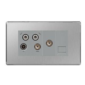 BG FBS69 Quadplex TV/FM/SAT Socket