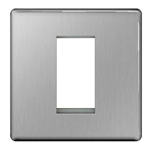 BG FBSEMS1 Frontplate 1 Module Square