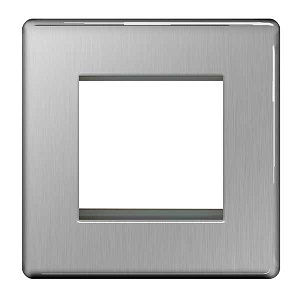 BG FBSEMS2 Frontplate 2 Module Square