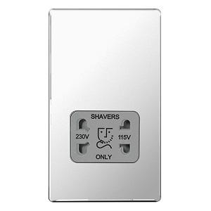 BG FPC20G Shaver Socket 115/230V