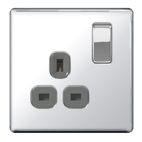 BG FPC21G Switched Socket 1Gang DP 13A