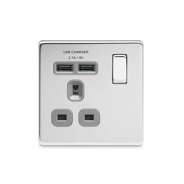 BG FPC21UG Switched Socket 1Gang USB 13A