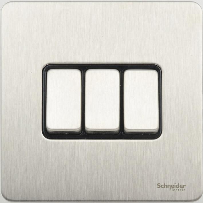 Schneider GU1432BSS Plt Sw 3G 2Way 16AX