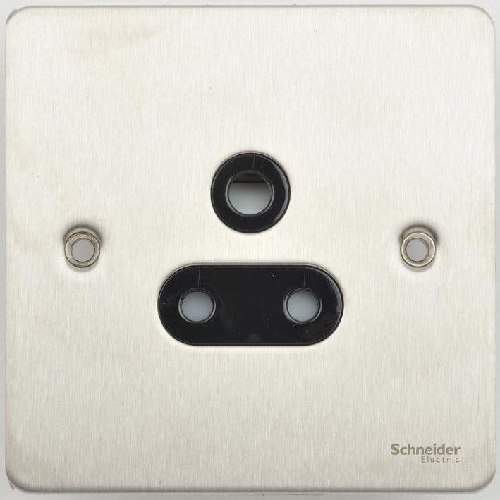 Schneider GU3280BSS Skt 1Gang Rnd Pin 5A