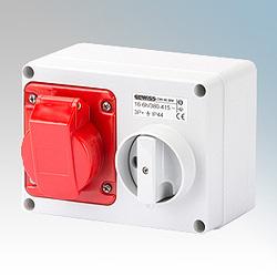Gewiss GW66020 Sw/Socket 32A 380V 3P+N+E