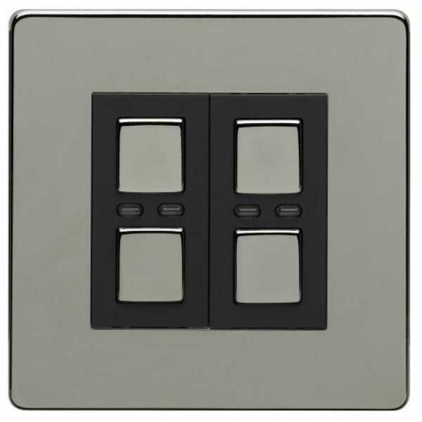 Lightwave LW420BLK 2 Gang Dimmer 250W