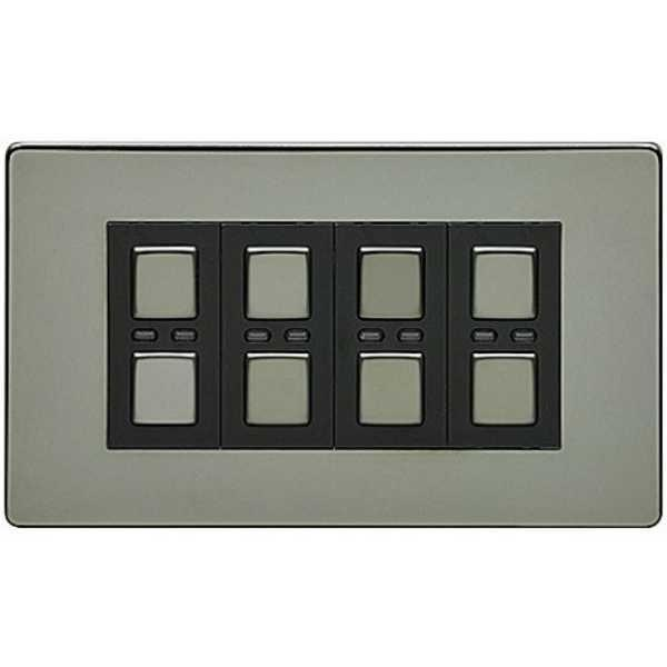 Lightwave LW440BLK 4 Gang Dimmer 210W