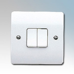 MK K4872WHI Switch 2 Gang 2 Way SP 10A