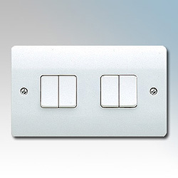 MK K4874WHI Switch 4 Gang 2 Way SP 10A