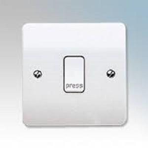 MK K4878PWHI Switch 1 Gang 2 Way Press