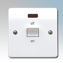 MK K5012WHI Switch DP Neon 45A Flush