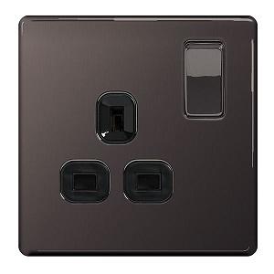 BG SBN21B Switched Socket 1Gang DP 13A