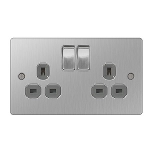 BG SBS22G Switched Socket 2Gang DP 13A