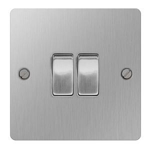 BG SBS42 Plate Switch 2 Gang 2 Way 10A