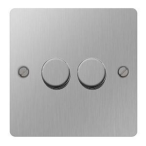BG SBS82P Push Dimmer Switch 2 Gang 400W