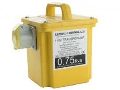 Portable Site Transformer 110V 750va 1x16A *