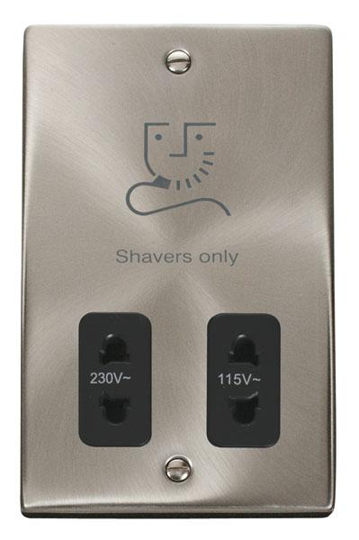 Click VPSC100BK Shaver Socket 115/230V