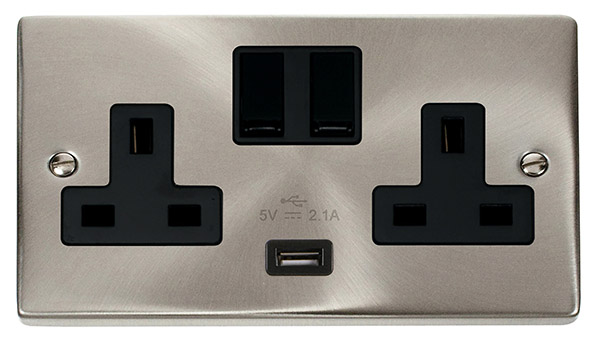 Click VPSC770BK Socket 2G Swd   USB 13A