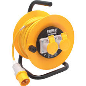 25Mtr 110v 2 Outlets Extension Reel *